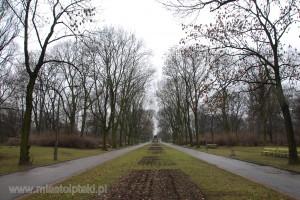 Park Skaryszewski wczesną wiosną