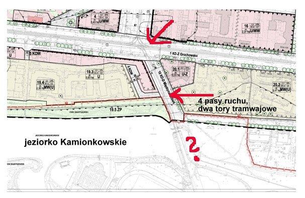 Plan zagospodarowania Kamionka