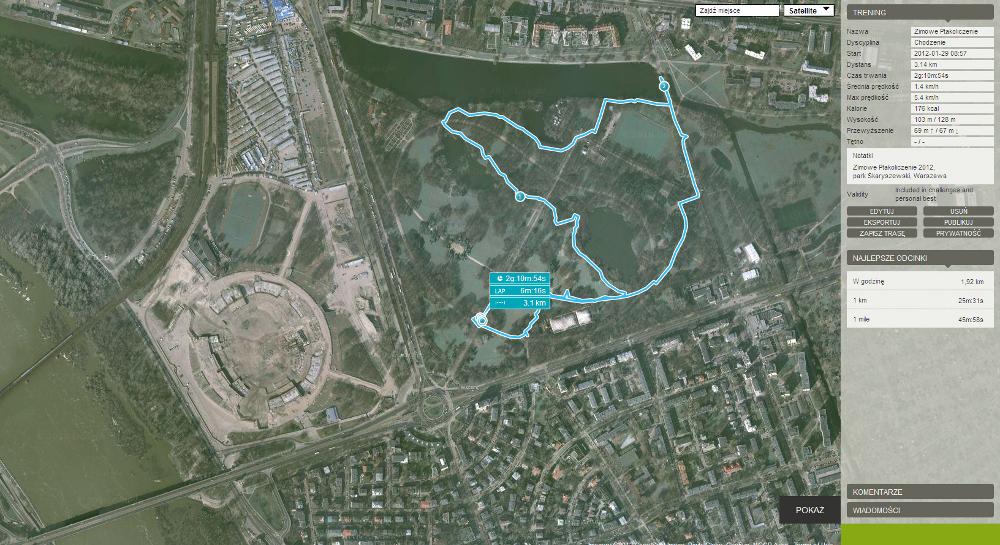Mapka Ptakoliczenia w parku Skaryszewskim